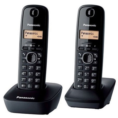 PANASONIC Cordless Phone [KX-TG1612] - Black - Wireless Phone